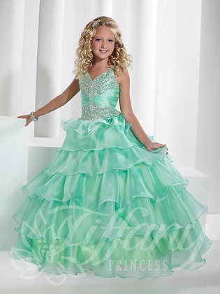 Mint Ruffles Sparkle Gown