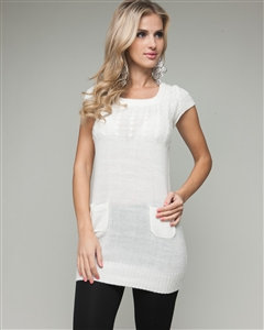Ivory Tunic with Pockets