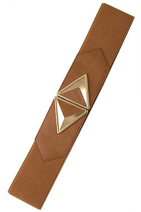 Camel Brown Belt with Gold Arrows