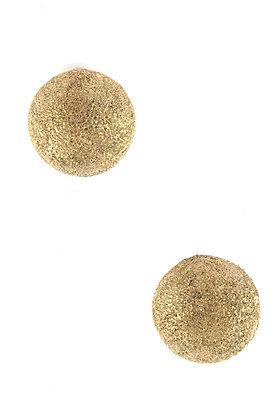 Gold Semi-Ball Post Earrings