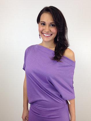 Purple Off the Shoulder Maxi
