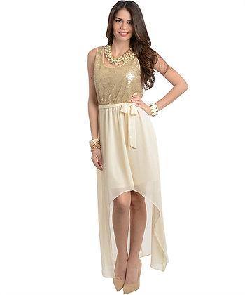 Gold High-Low Dress