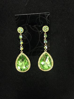 Rhinestone and Pear Teardrop Earrings