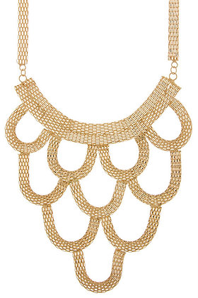 Gold Loop 3-Tiered Necklace