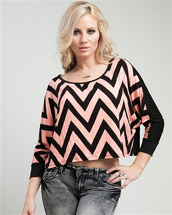 Pink Zig Zag Top (also in green)