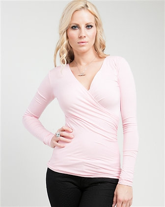 Pink Crossover Top