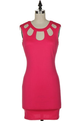 Pink Cut Out Dress