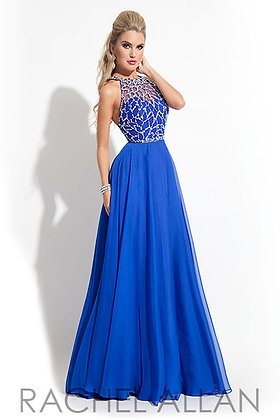 Royal Blue Chiffon Gown