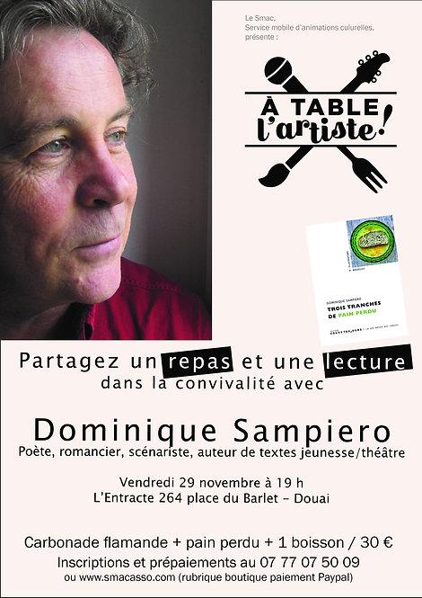 A table l'artiste ! avec Dominique Sampiero