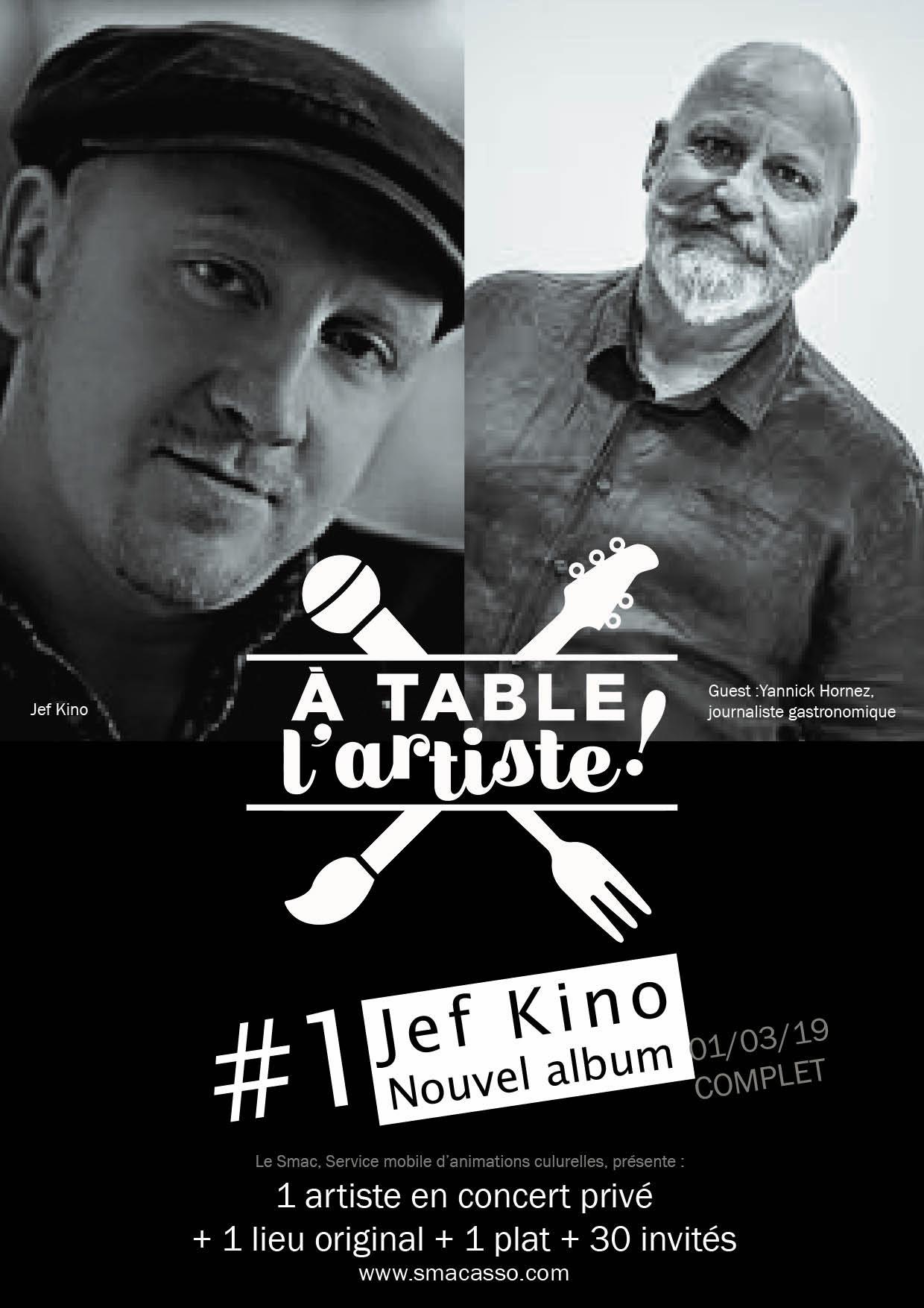 A table l'artiste !