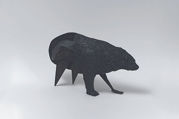 Abraham Poincheval, Ours, 2020, bronze,