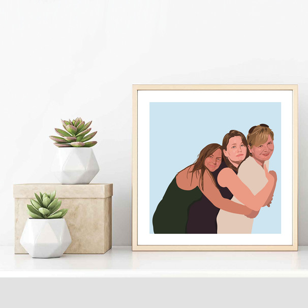 'Hugging Mum' Framed