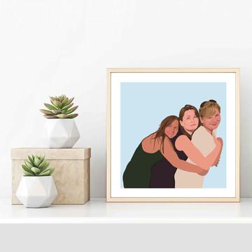 'Hugging Mum' Framed