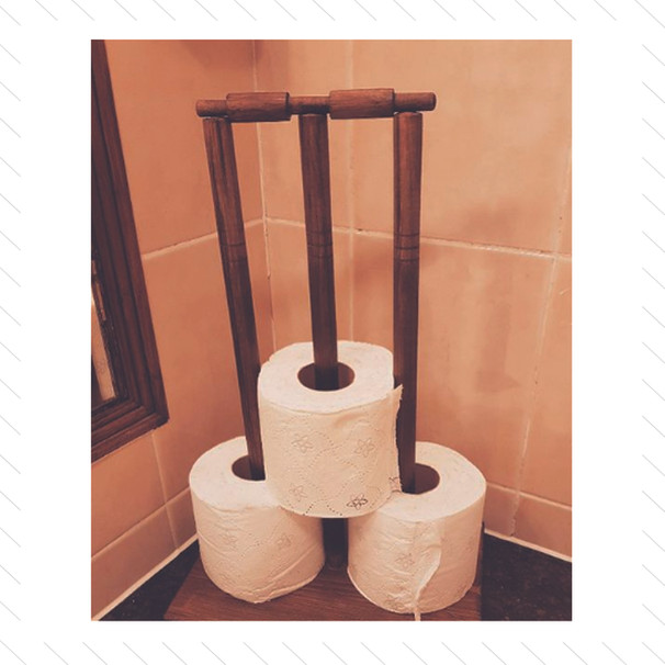 Cricket Wicket Toilet Roll Holder
