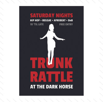 'Trunk Rattle' Club Night Poster