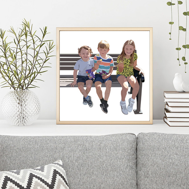 'Grandchildren' Framed