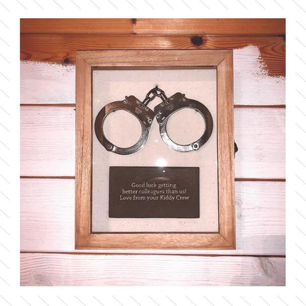Framed Handcuffs Piece