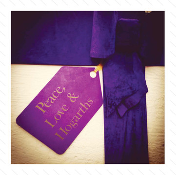 Giant Purple Bow & Tag