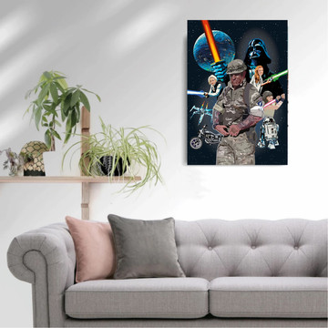 'Star Wars Dad' Framed