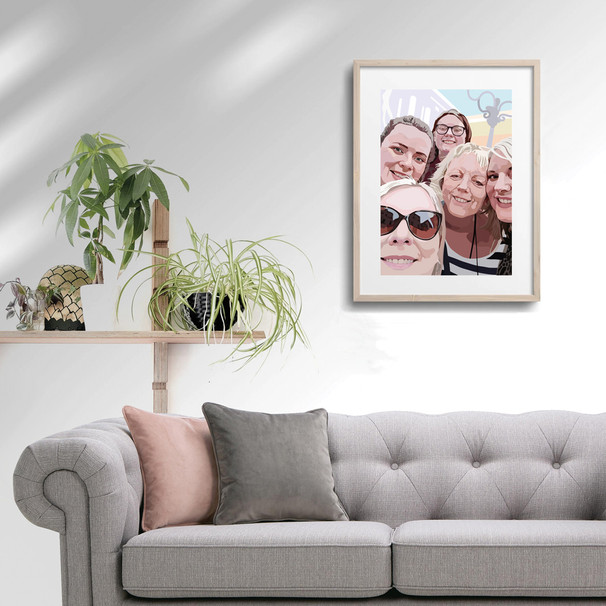 'Group Selfie' Framed