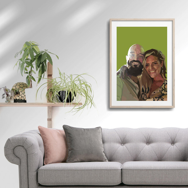 'Laura & Chris' Framed