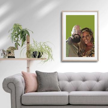 'Laura & Chris' Framed