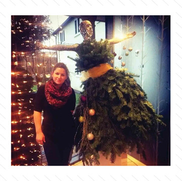 Christmas Tree Dress Mannequin