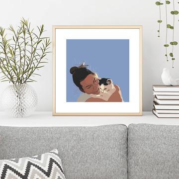 'Monkey' Framed