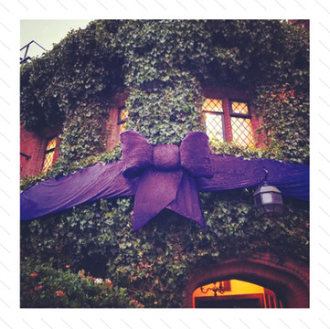 Big Purple Bow Decoration