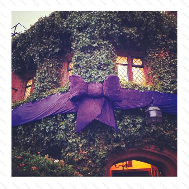 Big Purple Bow Decoration