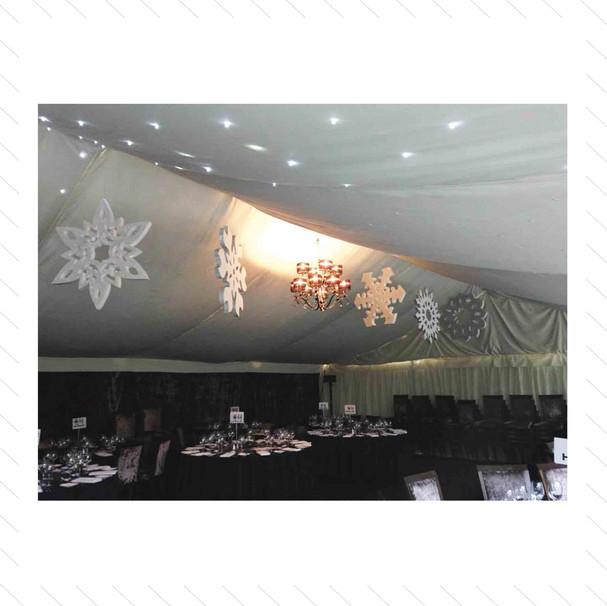 Giant Snowflakes Installation 2