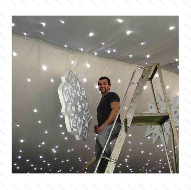 Giant Snowflakes Installation 1