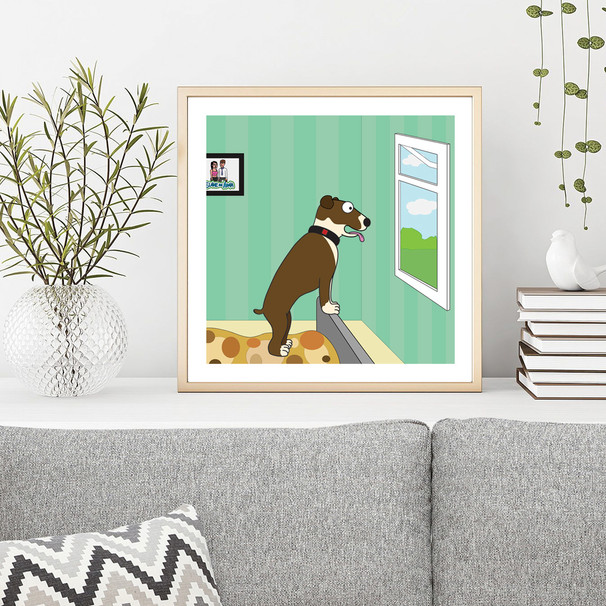 'Family Dog' Framed