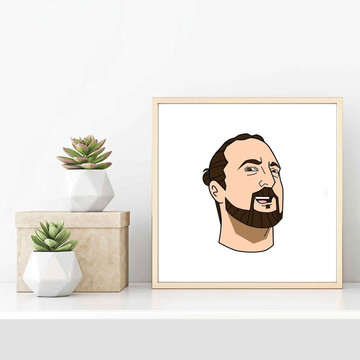 'Martin's Head' Framed