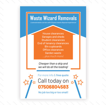 'Waste Wizard Removals' Flyer