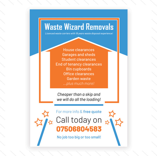 'Waste Wizard Removals' Flyer