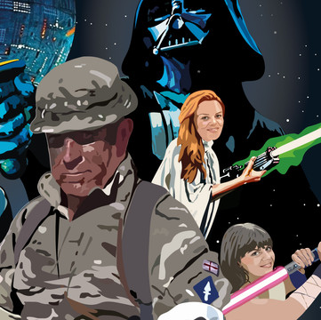 Section of 'Star Wars Dad'