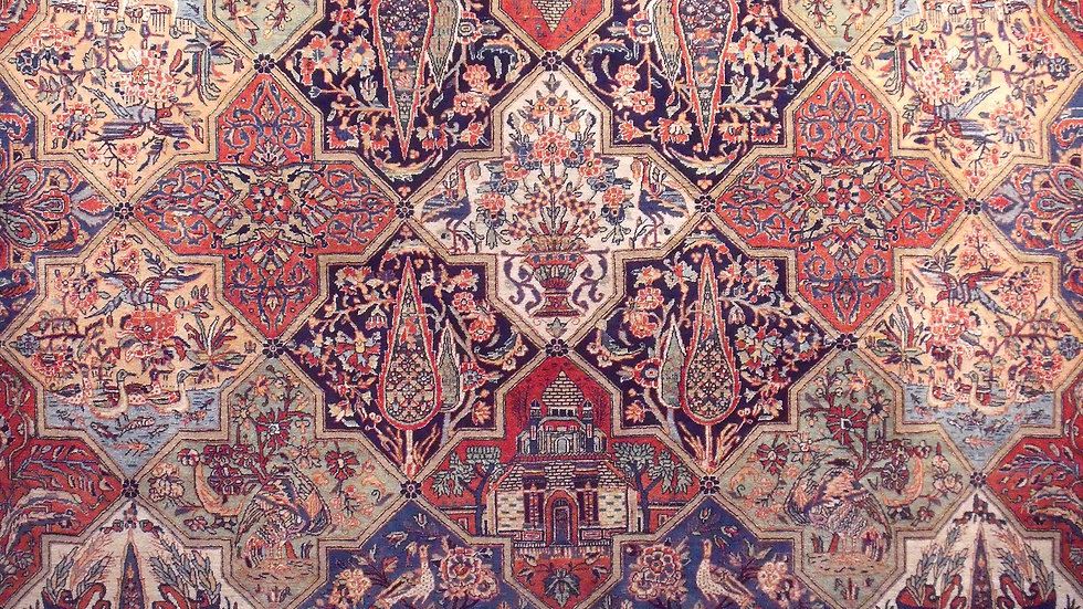 Antique Persian Kashan Vegetable Dye