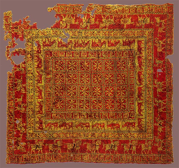 Hand-woven Pazyryk Carpet