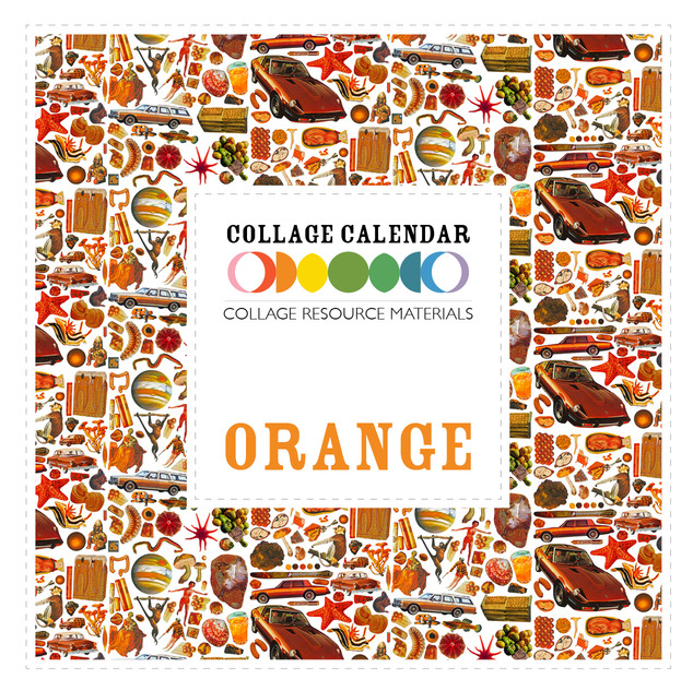 Collage Resource Materials Orange