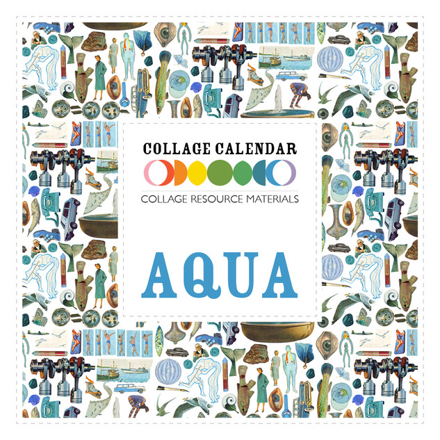 Collage Resource Materials Aqua