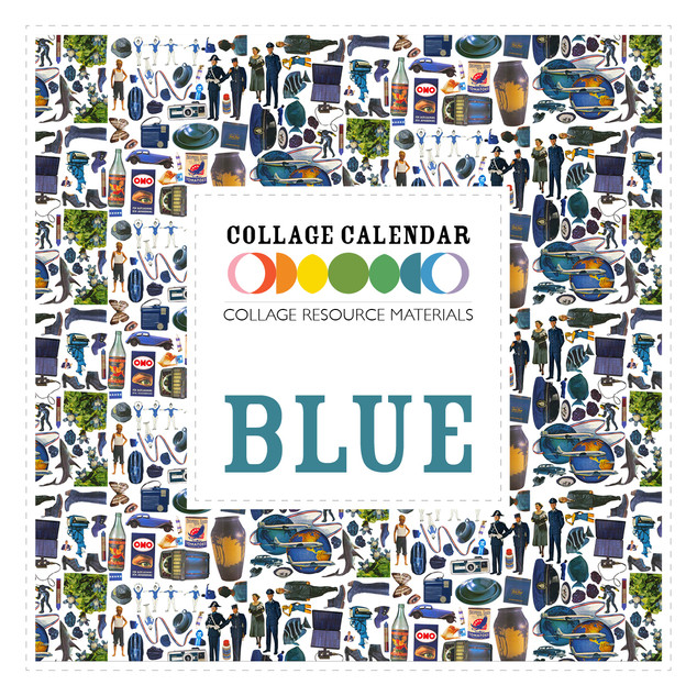 Collage Resource Materials Blue