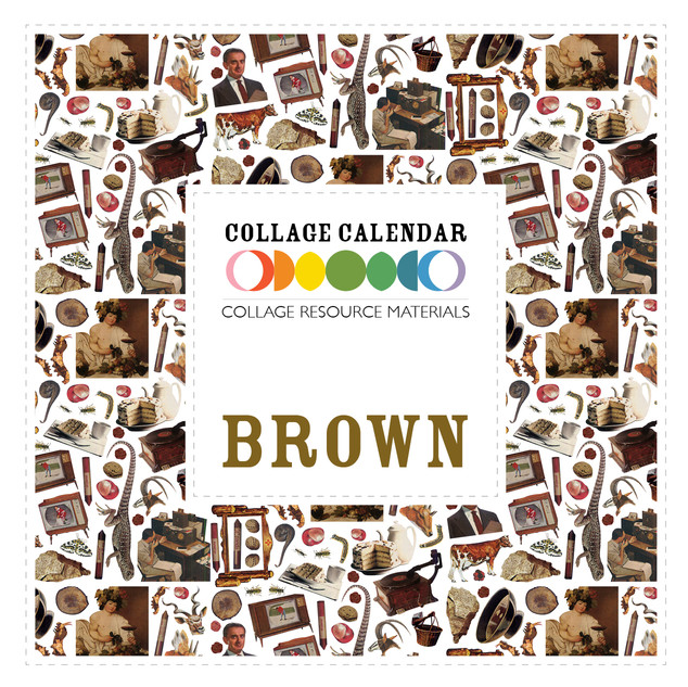 Collage Resource Materials Brown