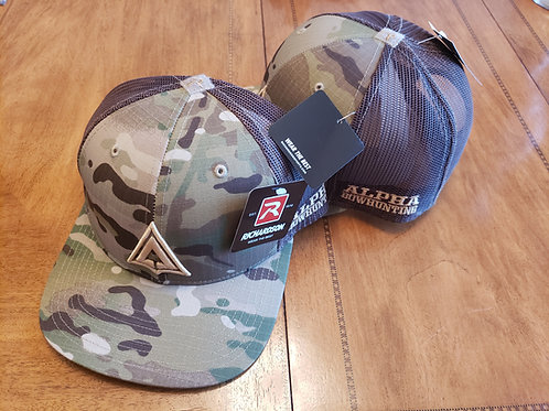 Multi Cam and brown mesh Logo hat