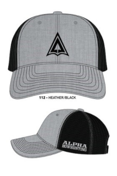 Heather Grey/ Black Logo Hat snap back