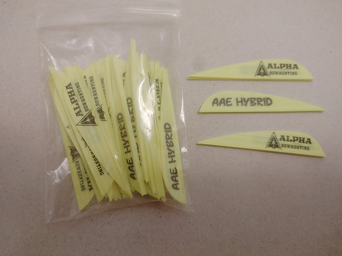 AAE Hybrid 2.7 inch Logo Vanes 40 pack- Yellow