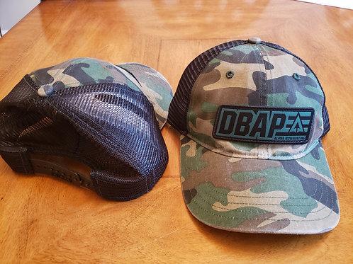 DBAP Camo/ Black mesh non structured hat