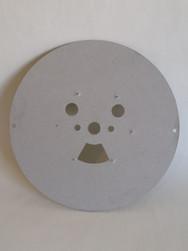Rond en carton gris