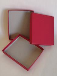 Petit plateau carton rouge