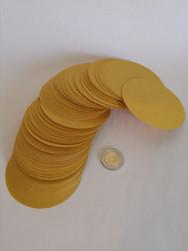 Ronds papier plastifié